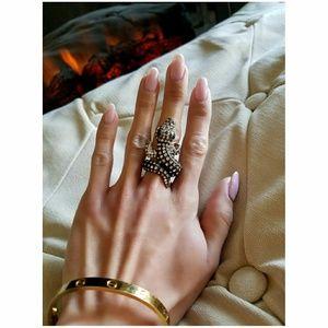 🐍 ASOS Gem Bronze & Silver Statement Ring 🐍